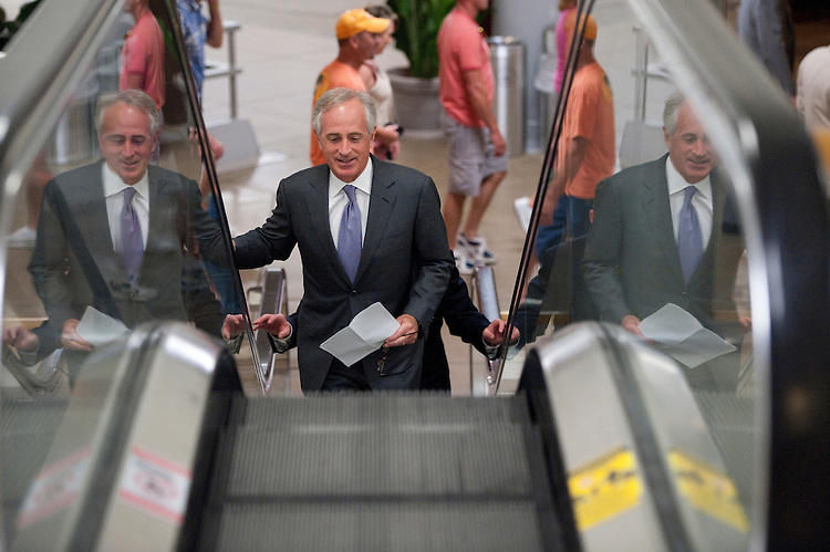 UNITED STATES - JULY 5: Sen. Bob Corker, R-Tenn., arrives in the Capitol on Tuesday, July 5, 2011. (Photo By Bill Clark/Roll Call)