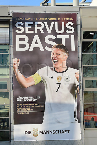 31.08.2016 Moenchengladbach, Germany. International football freindly. Germany versus Finland. <br />