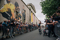 Romain Bardet (FRA/AG2R-LaMondiale) sweeping by at the Team presentation in La Roche-sur-Yon<br /> <br /> Le Grand Départ 2018<br /> 105th Tour de France 2018<br /> ©kramon