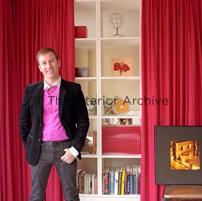 Portrait of interior designer Todd Klein in his Manhattan apartment