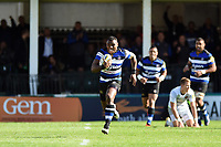 Semesa Rokoduguni of Bath Rugby races clear in the final play. Aviva Premiership match, between Bath Rugby and Saracens on September 9, 2017 at the Recreation Ground in Bath, England. Photo by: Patrick Khachfe / Onside Images