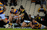 Joe Webber and Malo Tuitama chase loose ball during the Mitre 10 Cup rugby union match between Bay of Plenty and Wellington at Rotorua International Stadium in Rotorua, New Zealand on Thursday, 31 August 2017. Photo: Dave Lintott / lintottphoto.co.nz