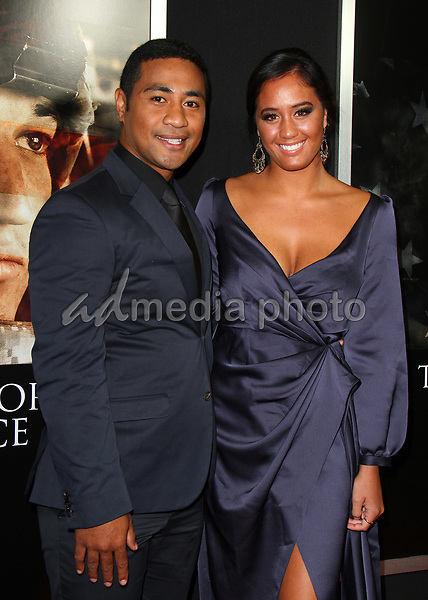 "23 October 2017 - Los Angeles, California - Beulah Koale and Meaghan Rath. ""Thank You For Your Service"" Premiere held at the Regal L.A. Live Theatre in Los Angeles. Photo Credit: AdMedia"