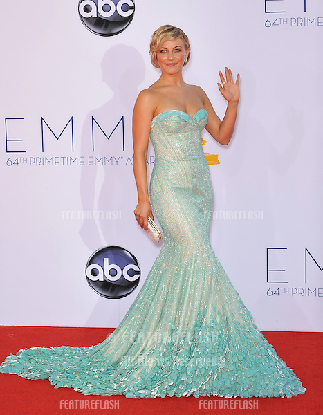 Julianne Hough at the 64th Primetime Emmy Awards at the Nokia Theatre LA Live..September 23, 2012  Los Angeles, CA.Picture: Paul Smith / Featureflash