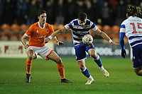 Reading's Lucas Boye under pressure from Blackpool's Ben Heneghan<br /> <br /> Photographer Kevin Barnes/CameraSport<br /> <br /> Emirates FA Cup Third Round Replay - Blackpool v Reading - Tuesday 14th January 2020 - Bloomfield Road - Blackpool<br />  <br /> World Copyright © 2020 CameraSport. All rights reserved. 43 Linden Ave. Countesthorpe. Leicester. England. LE8 5PG - Tel: +44 (0) 116 277 4147 - admin@camerasport.com - www.camerasport.com