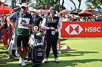 SINGAPORE - MARCH 03: Ariya Jutanugarn of Thailand on the 1st tee during the final round of the HSBC Women's World Championship 2019 at Sentosa Golf Club - Tanjong Course, Singapore on March 03, 2019.<br /> .<br /> .<br /> .<br /> (Photo by: Naratip Golf Srisupab/SEALs Sports Images)<br /> .<br /> Any image use must include a mandatory credit line adjacent to the content which should read: Naratip Golf Srisupab/SEALs Sports Images