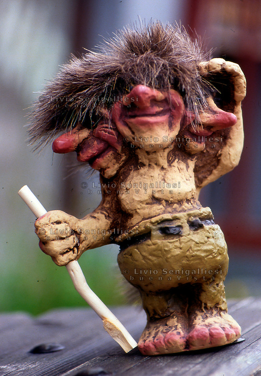 Trondheim / Norvegia / Norway.Un troll, tipico personaggio della mitologia e del folklore norvegese..A troll, typical character of the mythology and folklore of Norway..Photo Livio Senigalliesi.