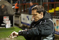 Manager Paul Hurst of Grimsby Town during the Vanarama National League match between Bromley and Grimsby Town at Hayes Lane, Bromley, England on 9 February 2016. Photo by Alan  Stanford.