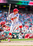16 August 2017: Washington Nationals first baseman Ryan Zimmerman in action against the Los Angeles Angels at Nationals Park in Washington, DC. The Angels defeated the Nationals 3-2 to split their 2-game series. Mandatory Credit: Ed Wolfstein Photo *** RAW (NEF) Image File Available ***