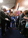 Brenda Erdoes, Legislative Counsel, answers questions while the Senate Finance committee meets on the Senate floor during the final hours of the 77th Legislative session at the Legislative Building in Carson City, Nev., on Monday, June 3, 2013. (AP Photo/Cathleen Allison)