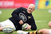 Joe Simpson of Wasps looks on during the pre-match warm-up. Aviva Premiership match, between Saracens and Wasps on October 8, 2017 at Allianz Park in London, England. Photo by: Patrick Khachfe / JMP