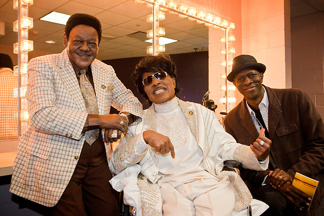 Fats Domino, Little Richard and Keb' Mo' backstage at the Domino Effect Benefit Concert at the New Orleans Arena in New Orleans, Louisiana, USA, 30 May 2009.