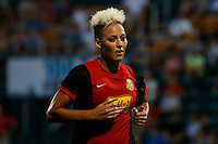 Rochester, NY - Saturday July 23, 2016: Western New York Flash midfielder Lianne Sanderson (10) during a regular season National Women's Soccer League (NWSL) match between the Western New York Flash and FC Kansas City at Rochester Rhinos Stadium.