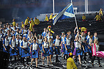 Eilidh Doyle leads in the Scottish team. Opening Ceremony. XXI Commonwealth games. Carrara Stadium. Gold Coast 2018. Queensland. Australia. 04/04/2018. ~ MANDATORY CREDIT Garry Bowden/SIPPA - NO UNAUTHORISED USE - +44 7837 394578