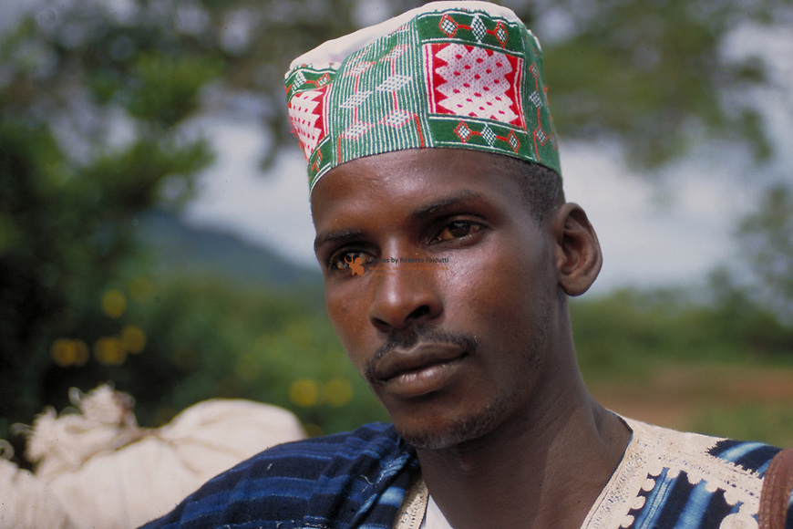 Portrait of a Fulani farmer of Fouta Djallon