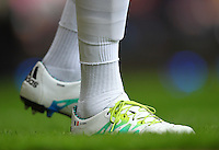 Adidas football boots of Bafetimbi Gomis of Swansea   during the Barclays Premier League match between West Ham United and Swansea City  played at Boleyn Ground , London on 7th May 2016