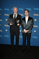 BEVERLY HILLS, CA - FEBRUARY 3: Martin McDonagh and Sam Rockwell in the press room at the 70th Annual DGA Awards at The Beverly Hilton Hotel in Beverly Hills, California on February 3, 2018. <br /> CAP/MPI/FS<br /> &copy;FS/MPI/Capital Pictures