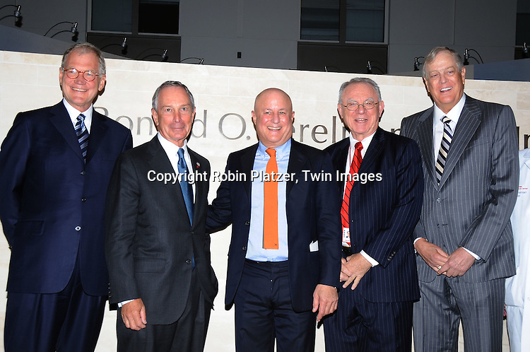 David Letterman, Mayor Bloomberg,Ronald Perelman, Dr Herbert Pardes, David Koch