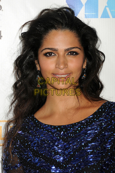 "Camila Alves McConaughey.""Magic Mike"" Los Angeles Film Festival 2012 Premiere held at Regal Cinemas LA Live, Los Angeles, California, USA..June 24th, 2012.headshot portrait blue black  beads beaded .CAP/ADM/BP.©Byron Purvis/AdMedia/Capital Pictures."