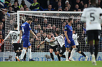 Martyn Waghorn celebrates scoring Derby's second goal during Chelsea vs Derby County, Caraboa Cup Football at Stamford Bridge on 31st October 2018