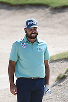 Stephan Jaeger (GER) reacts to his shot out of the trap on 14 during Round 1 of the Valero Texas Open, AT&amp;T Oaks Course, TPC San Antonio, San Antonio, Texas, USA. 4/19/2018.<br /> Picture: Golffile | Ken Murray<br /> <br /> <br /> All photo usage must carry mandatory copyright credit (&copy; Golffile | Ken Murray)