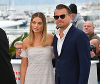 "CANNES, FRANCE. May 22, 2019: Margot Robbie & Leonardo DiCaprio at the photocall for ""Once Upon a Time in Hollywood"" at the 72nd Festival de Cannes.<br /> Picture: Paul Smith / Featureflash"