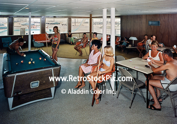 Carousel Motel, Wildwood NJ.  1961 Game Room