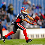 28 December 2008: Buffalo Bills' wide receiver Josh Reed warms up prior to facing the New England Patriots at Ralph Wilson Stadium in Orchard Park, NY. The Patriots kept their playoff hopes alive defeating the Bills 13-0 in their 16th win against Buffalo of their past 17 meetings. ***** Editorial Use Only ******..Mandatory Photo Credit: Ed Wolfstein Photo