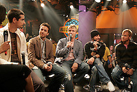 """JUne 19 2005, Montreal (Qc) CANADA<br /> Backstreet Boys talk about their latest album NEVER GONE in a TV interview.<br /> <br /> Nearly 5 years after their last studio album, the Backstreet Boys mark a resolute return with their 5th disc June 14 on Jive Records. The 12-song """"Never Gone"""" reflects the adult ideals of a quintet that broke music and concert sales records the world over, moving more than 73 million albums (30 million in America) since their introduction in 1997."""