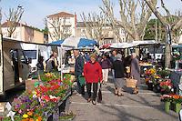 street market tain l hermitage rhone france