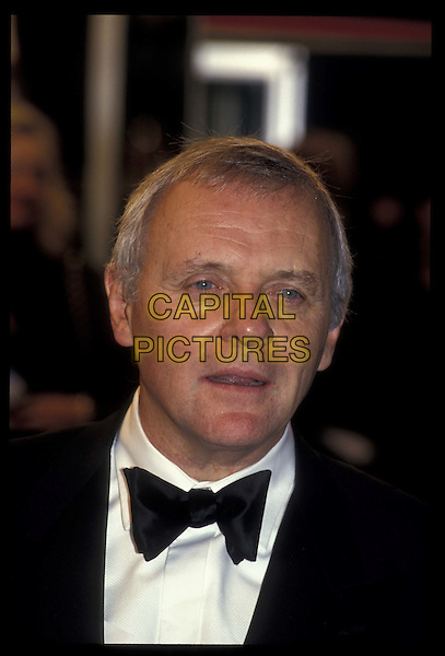 ANTHONY HOPKINS.Ref: 026.headshot, portrait, bow tie.*RAW SCAN- photo will be adjusted for publication*.www.capitalpictures.com.sales@capitalpictures.com.©Capital Pictures