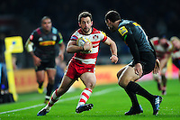 Greig Laidlaw of Gloucester Rugby in possession. Aviva Premiership match, between Harlequins and Gloucester Rugby on December 27, 2016 at Twickenham Stadium in London, England. Photo by: Patrick Khachfe / JMP