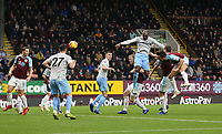 West Ham United's Angelo Ogbonna with a first half header towards goal<br /> <br /> Photographer Rob Newell/CameraSport<br /> <br /> The Premier League - Burnley v West Ham United - Sunday 30th December 2018 - Turf Moor - Burnley<br /> <br /> World Copyright © 2018 CameraSport. All rights reserved. 43 Linden Ave. Countesthorpe. Leicester. England. LE8 5PG - Tel: +44 (0) 116 277 4147 - admin@camerasport.com - www.camerasport.com