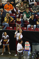 15 December 2007: Stanford Cardinal cheerleaders during Stanford's 25-30, 26-30, 30-23, 30-19, 8-15 loss against the Penn State Nittany Lions in the 2007 NCAA Division I Women's Volleyball Final Four championship match at ARCO Arena in Sacramento, CA.