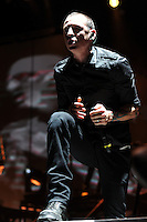 Chester Bennington of Linkin Park performs at the Bank Atlantic center n Fort Lauderdale, Florida on January 20, 2011 i© MediaPunch Inc. / MPI04