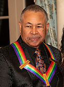 Percussionist Ralph Johnson of the band Earth, Wind and Fire, one of the recipients of the 42nd Annual Kennedy Center Honors, poses as part of a group photo following a dinner at the United States Department of State in Washington, D.C. on Saturday, December 7, 2019.  The 2019 honorees are: Earth, Wind & Fire, Sally Field, Linda Ronstadt, Sesame Street, and Michael Tilson Thomas.<br />