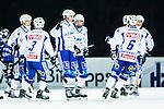 Uppsala 2014-11-15 Bandy Elitserien IK Sirius - IFK V&auml;nersborg :  <br /> V&auml;nersborgs Johan Koch firar sitt 0-2 m&aring;l med lagkamrater under matchen mellan IK Sirius och IFK V&auml;nersborg <br /> (Foto: Kenta J&ouml;nsson) Nyckelord:  Bandy Elitserien Uppsala Studenternas IP IK Sirius IKS IFK V&auml;nersborg  jubel gl&auml;dje lycka glad happy