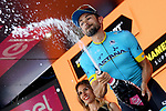 Dario Cataldo (ITA) Astana Pro Team wins Stage 15 of the 2019 Giro d'Italia, running 232km from Ivrea to Como, Italy. 26th May 2019<br /> Picture: Gian Mattia D'Alberto/LaPresse | Cyclefile<br /> <br /> All photos usage must carry mandatory copyright credit (© Cyclefile | Gian Mattia D'Alberto/LaPresse)