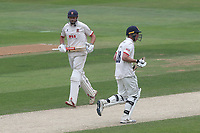 Nick Browne and Daniel Lawrence add to the Essex total during Essex CCC vs Yorkshire CCC, Specsavers County Championship Division 1 Cricket at The Cloudfm County Ground on 9th July 2019