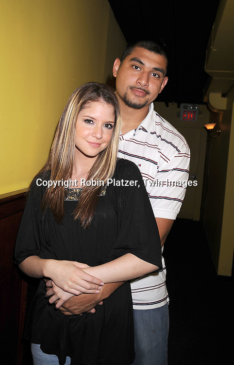 "One Life To Live actress Brittany Underwood and boyfriend Eddie Huezo ..at The ""Kathy Brier and Friends"" concert at The Metropolitan Room in New York City benefitting the Eos ..Theatre Company on May 16, 2008.....Robin Platzer, Twin Images"