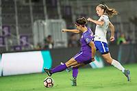Orlando, FL - Saturday September 02, 2017: Alex Morgan during a regular season National Women's Soccer League (NWSL) match between the Orlando Pride and the Boston Breakers at Orlando City Stadium.