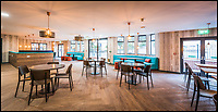 BNPS.co.uk (01202 558833)<br /> Pic:   Collegiate/BNPS<br /> <br /> Are these Britain's poshest student digs?<br /> <br /> Luxury university accommodation has been unveiled at a seaside resort - and it is a far cry from the traditional grotty student digs.<br /> <br /> The lavish new development in Bournemouth, Dorset, has 101 rooms that come with an en suite bathroom, kitchen and study area.<br /> <br /> Some of the suites, that resemble high end hotel rooms, even have sea views.<br /> <br /> The building also has its own fitness suite, on-site cinema, communal lounge, games room and even a private 'dinner party' room. A karaoke room is also planned to be built.