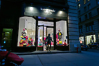 A Kate Spade store on Fifth Avenue in the Flatiron neighborhood of New York is seen decorated for Christmas on Sunday, November 25, 2012. (© Richard B. Levine)