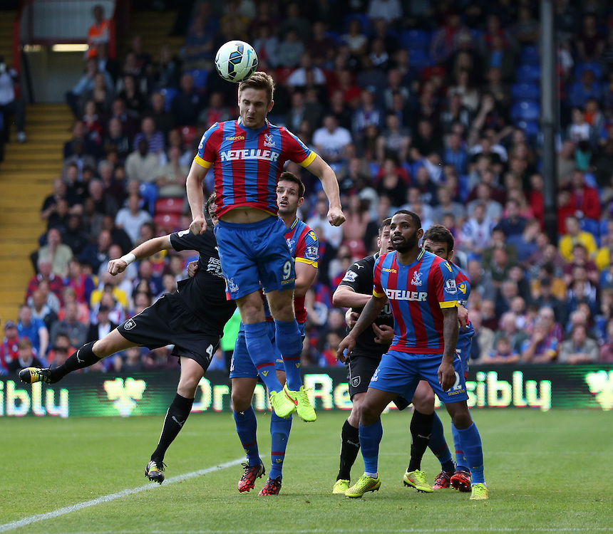 Crystal Palace's Kevin Doyle in action during todays match  <br /> Photographer Kieran Galvin/CameraSport<br /> <br /> Football - Barclays Premiership - Crystal Palace v Burnley - Saturday 13th September 2014 - Selhurst Park - London<br /> <br /> &copy; CameraSport - 43 Linden Ave. Countesthorpe. Leicester. England. LE8 5PG - Tel: +44 (0) 116 277 4147 - admin@camerasport.com - www.camerasport.com