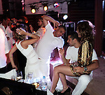 **EXCLUSIVE**Ronaldo with Wanessa Camargo and husband Marcus Buaiz.Ronaldo, Brazilian Soccer Player, with Wanessa Camargo, Brazilian Singer, and husband Marcus Buaiz celebrating New Years Eve.Nikki Beach Restaurant.St. Barth, Caribbean.Friday, December 31, 2010.Photo By CelebrityVibe.com.To license this image please call (212) 410 5354; or Email: CelebrityVibe@gmail.com ; website: www.CelebrityVibe.com