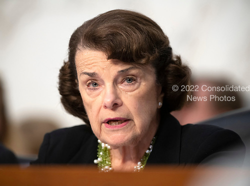 "United States Senator Dianne Feinstein (Democrat of California), ranking member, joins in the debate about the release of documents designated ""committee confidential"" prior to the US Senate Judiciary Committee beginning the third day of testimony from Judge Brett Kavanaugh on his nomination as Associate Justice of the US Supreme Court to replace the retiring Justice Anthony Kennedy on Capitol Hill in Washington, DC on Thursday, September 6, 2018.<br /> Credit: Ron Sachs / CNP<br /> (RESTRICTION: NO New York or New Jersey Newspapers or newspapers within a 75 mile radius of New York City)"