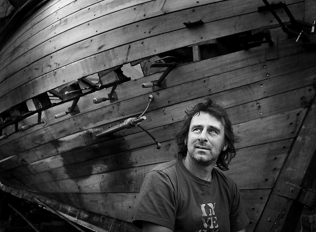 Restoring the lugger 'Ripple'.<br />