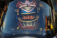 Apr. 29, 2011; Baytown, TX, USA: NHRA top fuel dragster driver Antron Brown during qualifying for the Spring Nationals at Royal Purple Raceway. Mandatory Credit: Mark J. Rebilas-