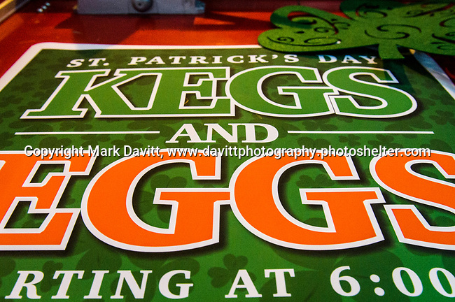 Founder's Irish Pub held its annual St. Patricks Day Kegs and Eggs featuring green eggs and ham and green beer in Bondurant March 17.
