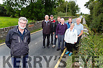 Tony Darmody and the residents of Listry who are pleading with the council to address the problems with Litry bridge on the River Gweestin back l-r: Jim O'Shea, Richard Fitzgerald, Coleman O'Shea, Michael F O'Connor, Paul Garland, Breda O'Shea and Ted Scannell